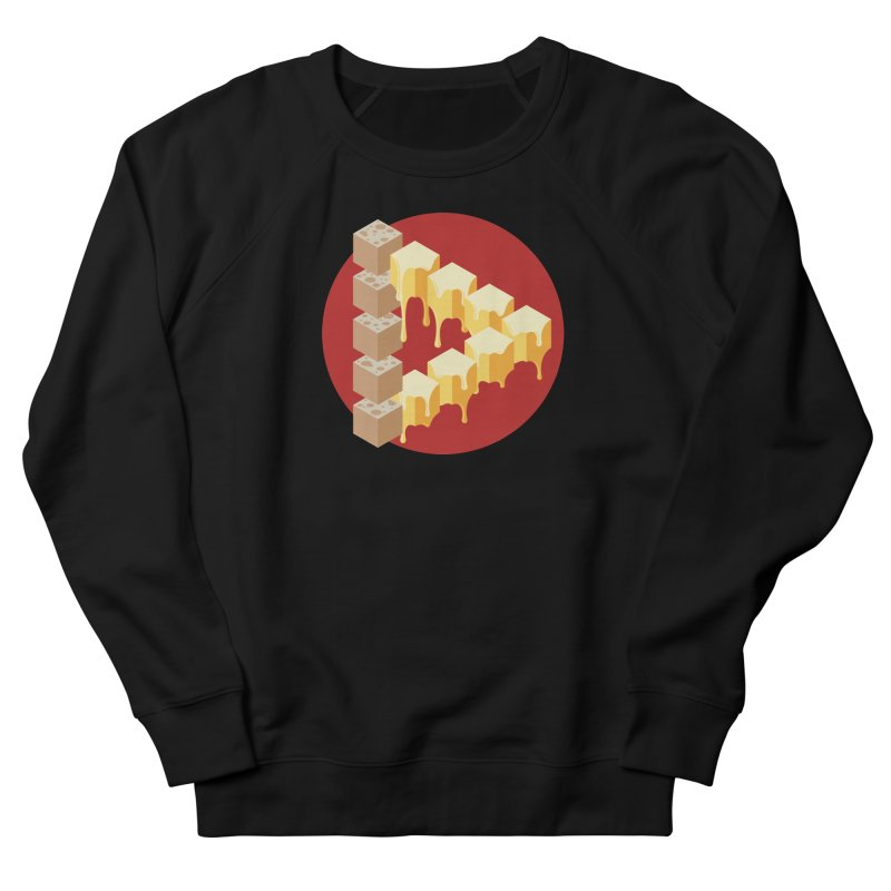 Optical Illusion with Extra Cheese Men's French Terry Sweatshirt by Teeframed