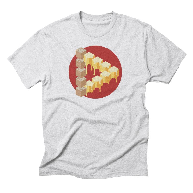 Optical Illusion with Extra Cheese Men's Triblend T-Shirt by Teeframed
