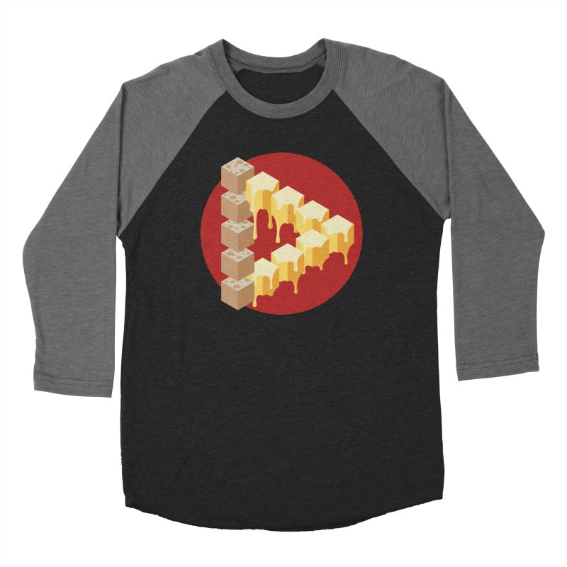 Optical Illusion with Extra Cheese Women's Baseball Triblend Longsleeve T-Shirt by Teeframed