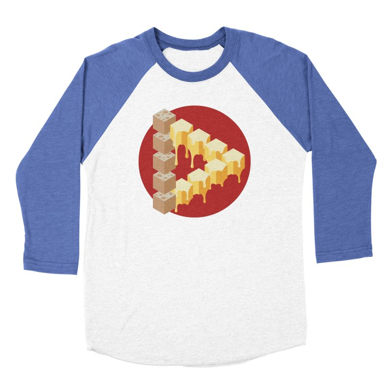 Optical Illusion with Extra Cheese Men's Baseball Triblend Longsleeve T-Shirt by Teeframed