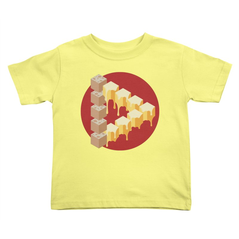 Optical Illusion with Extra Cheese Kids Toddler T-Shirt by Teeframed