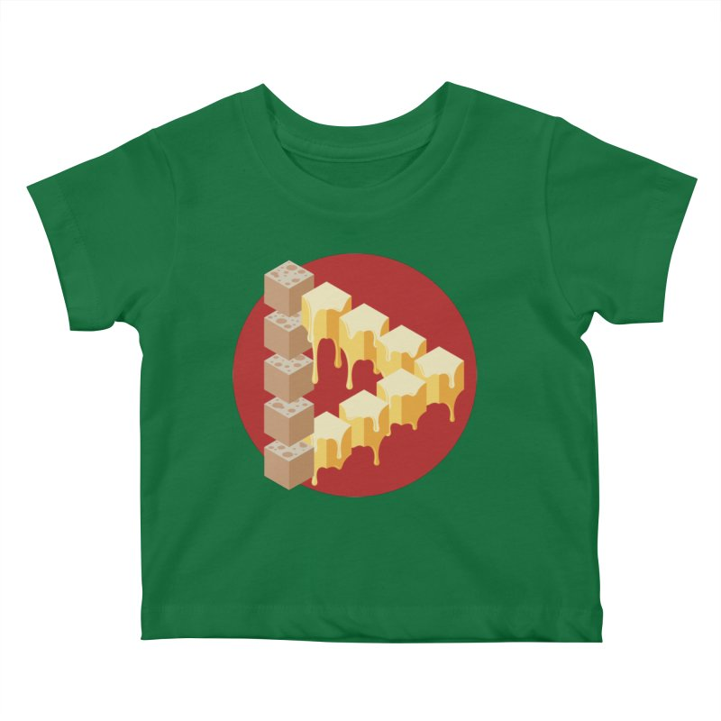 Optical Illusion with Extra Cheese Kids Baby T-Shirt by Teeframed