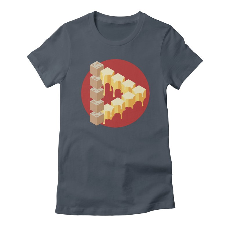 Optical Illusion with Extra Cheese Women's T-Shirt by Teeframed