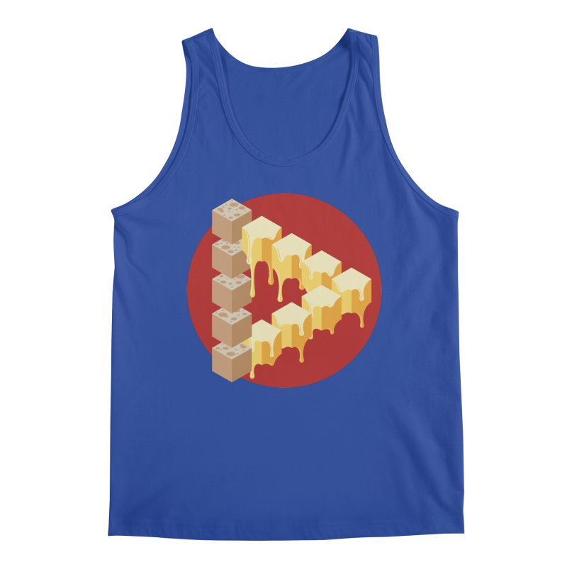 Optical Illusion with Extra Cheese Men's Regular Tank by Teeframed