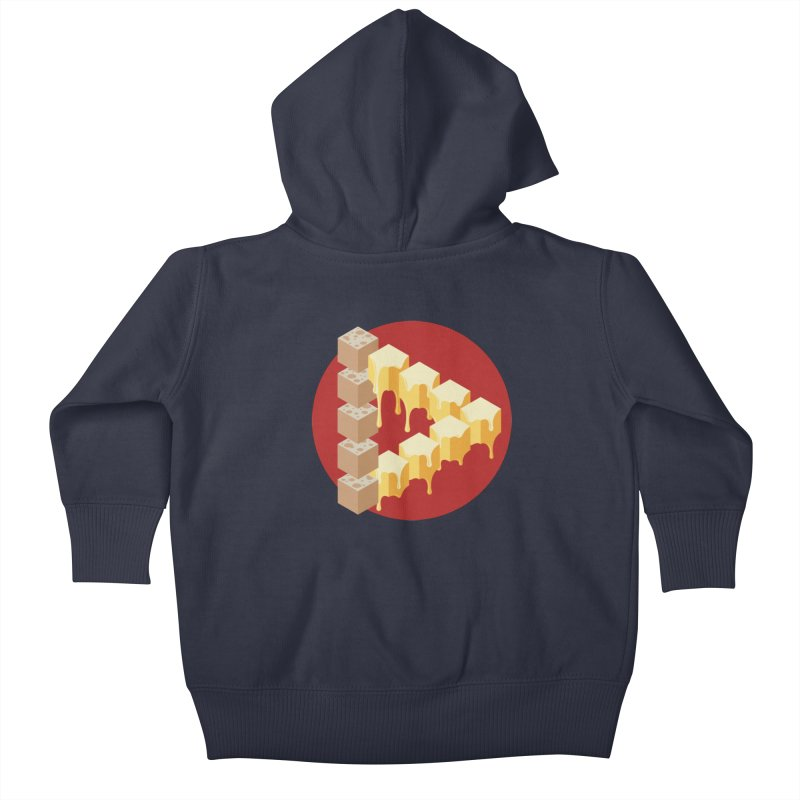 Optical Illusion with Extra Cheese Kids Baby Zip-Up Hoody by Teeframed