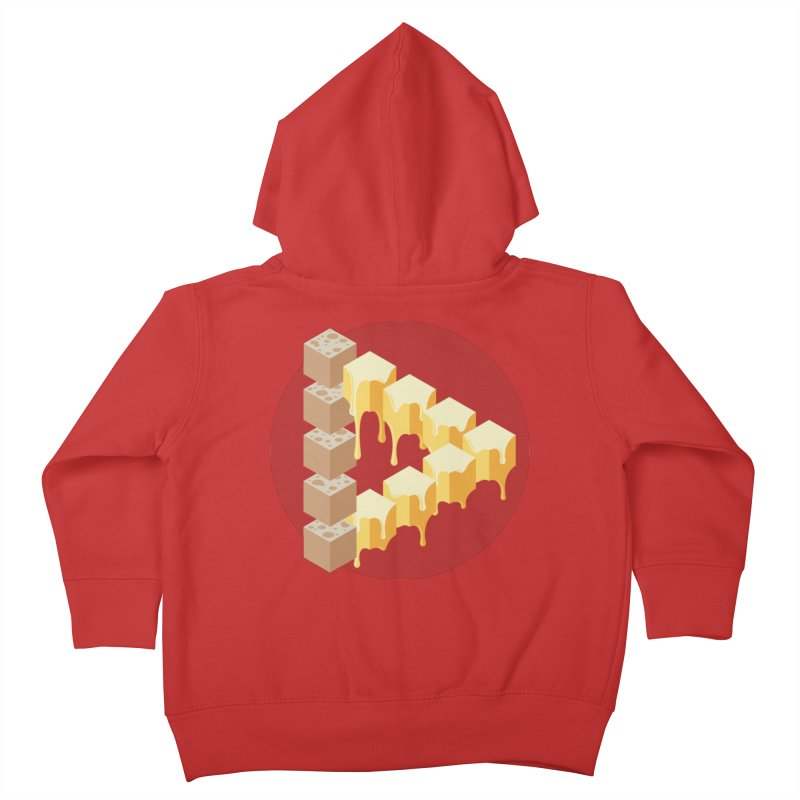 Optical Illusion with Extra Cheese Kids Toddler Zip-Up Hoody by Teeframed