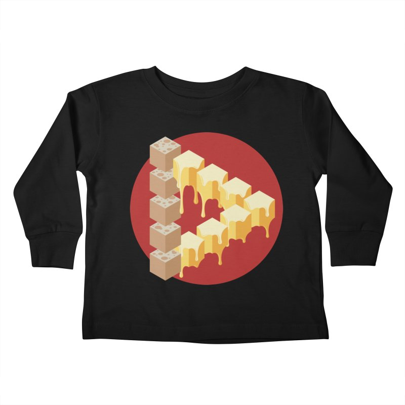 Optical Illusion with Extra Cheese Kids Toddler Longsleeve T-Shirt by Teeframed