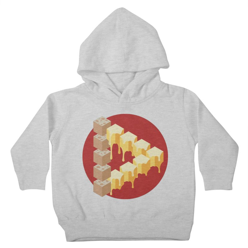 Optical Illusion with Extra Cheese Kids Toddler Pullover Hoody by Teeframed