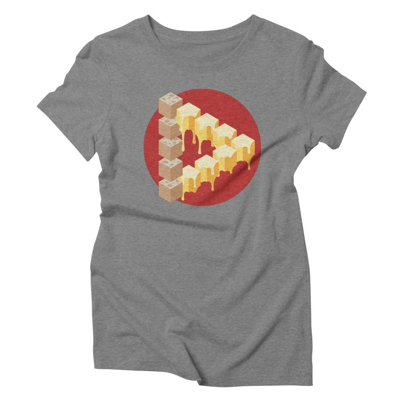 Optical Illusion with Extra Cheese Women's Triblend T-Shirt by Teeframed