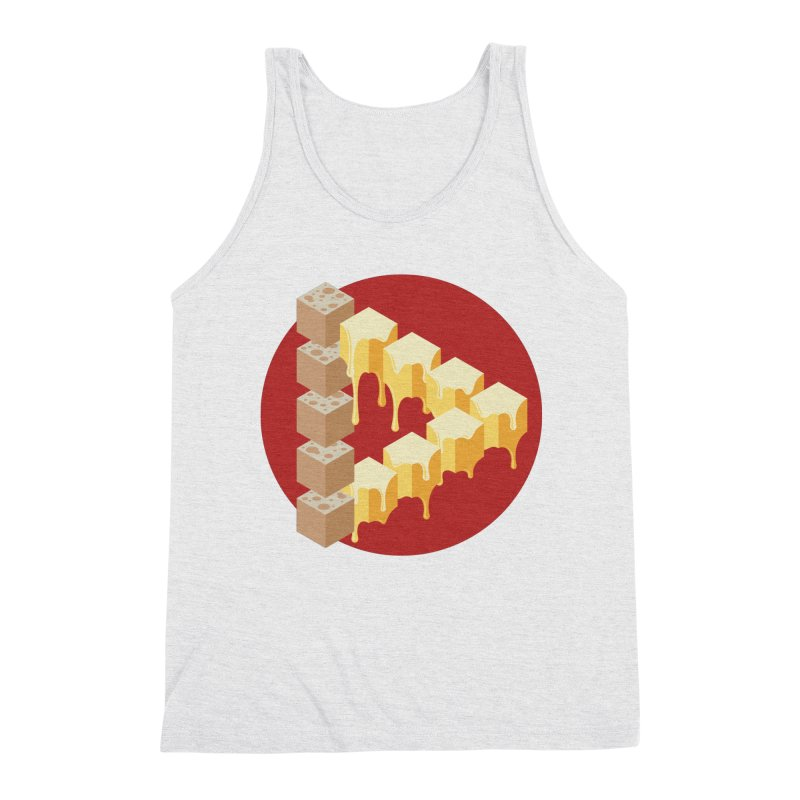 Optical Illusion with Extra Cheese Men's Triblend Tank by Teeframed