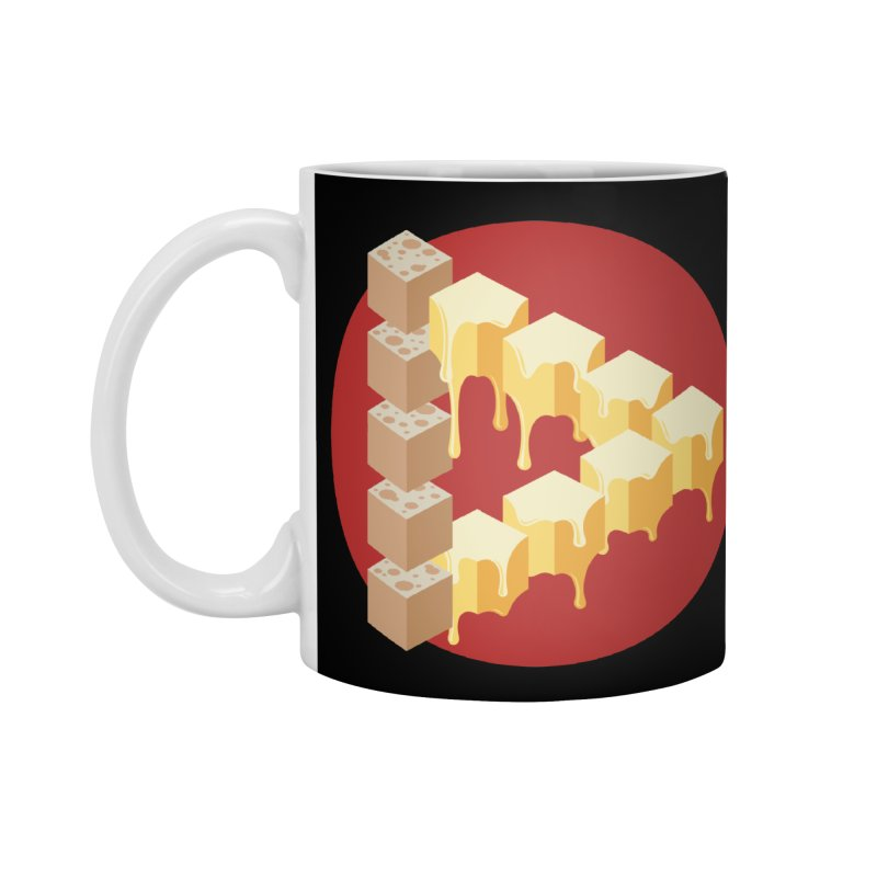 Optical Illusion with Extra Cheese Accessories Standard Mug by Teeframed
