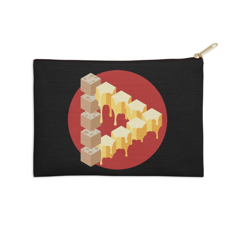 Optical Illusion with Extra Cheese Accessories Zip Pouch by Teeframed