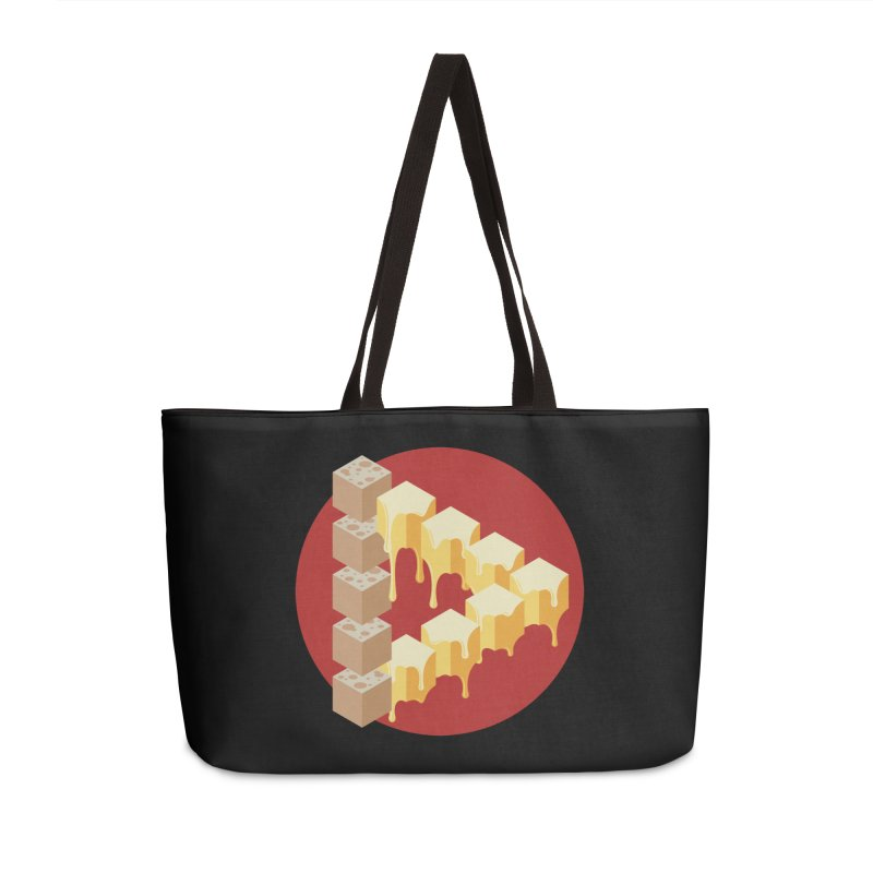 Optical Illusion with Extra Cheese Accessories Weekender Bag Bag by Teeframed