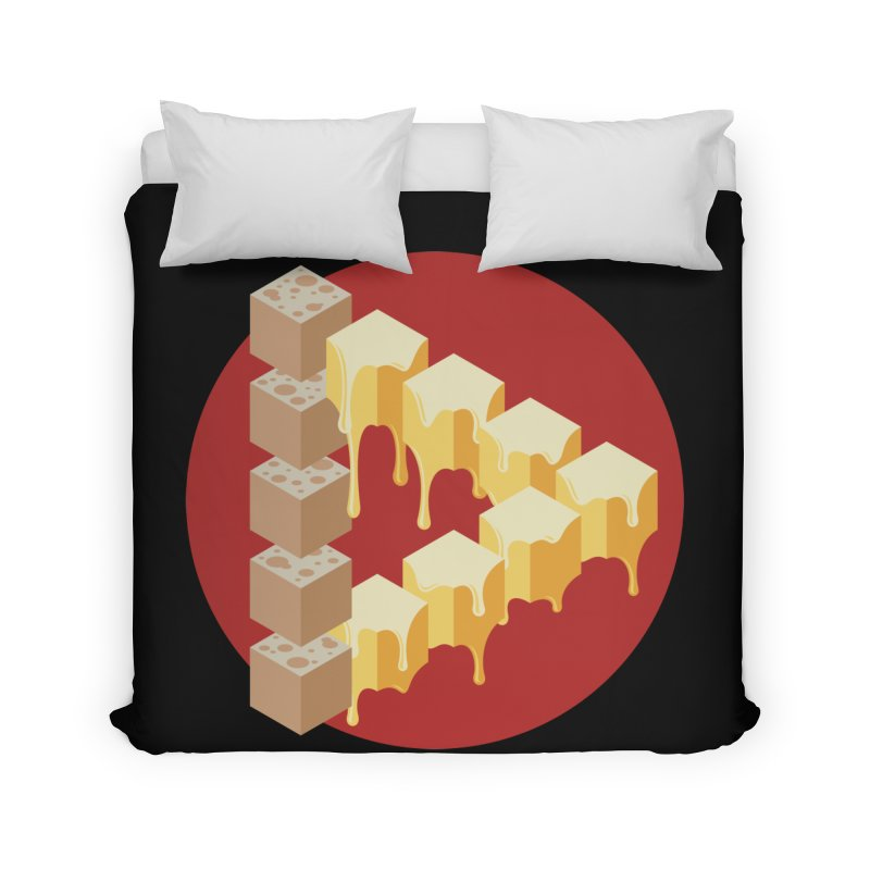 Optical Illusion with Extra Cheese Home Duvet by Teeframed