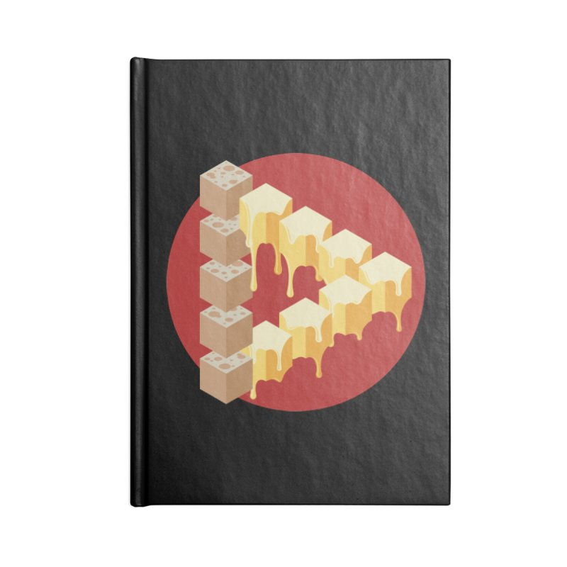 Optical Illusion with Extra Cheese Accessories Lined Journal Notebook by Teeframed