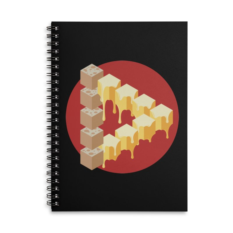 Optical Illusion with Extra Cheese Accessories Lined Spiral Notebook by Teeframed