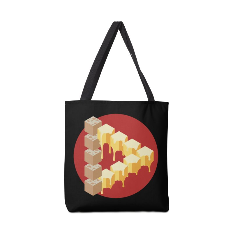 Optical Illusion with Extra Cheese Accessories Bag by Teeframed
