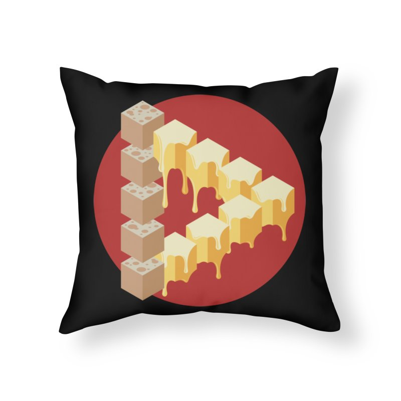 Optical Illusion with Extra Cheese Home Throw Pillow by Teeframed