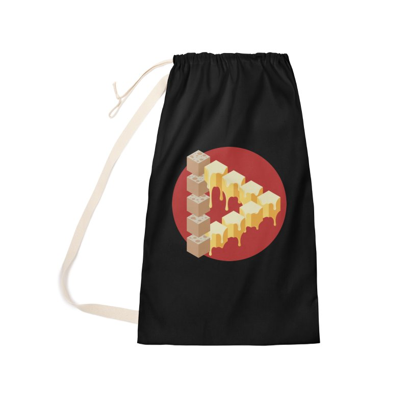 Optical Illusion with Extra Cheese Accessories Laundry Bag Bag by Teeframed