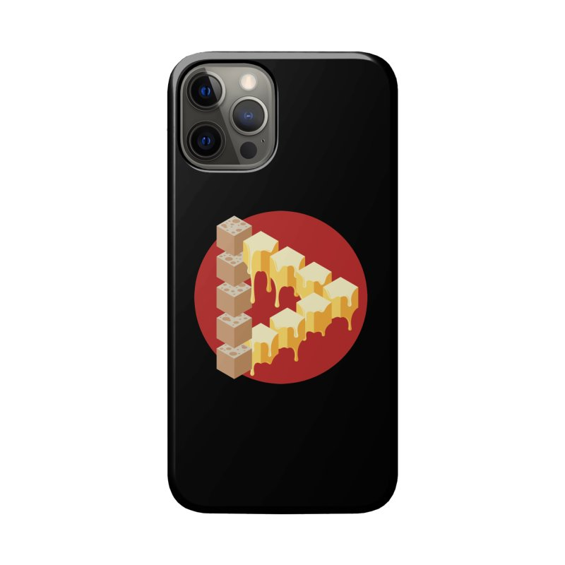 Optical Illusion with Extra Cheese Accessories Phone Case by Teeframed