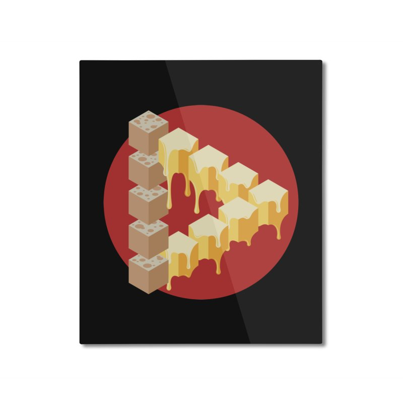 Optical Illusion with Extra Cheese Home Mounted Aluminum Print by Teeframed