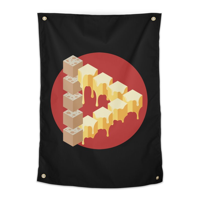 Optical Illusion with Extra Cheese Home Tapestry by Teeframed