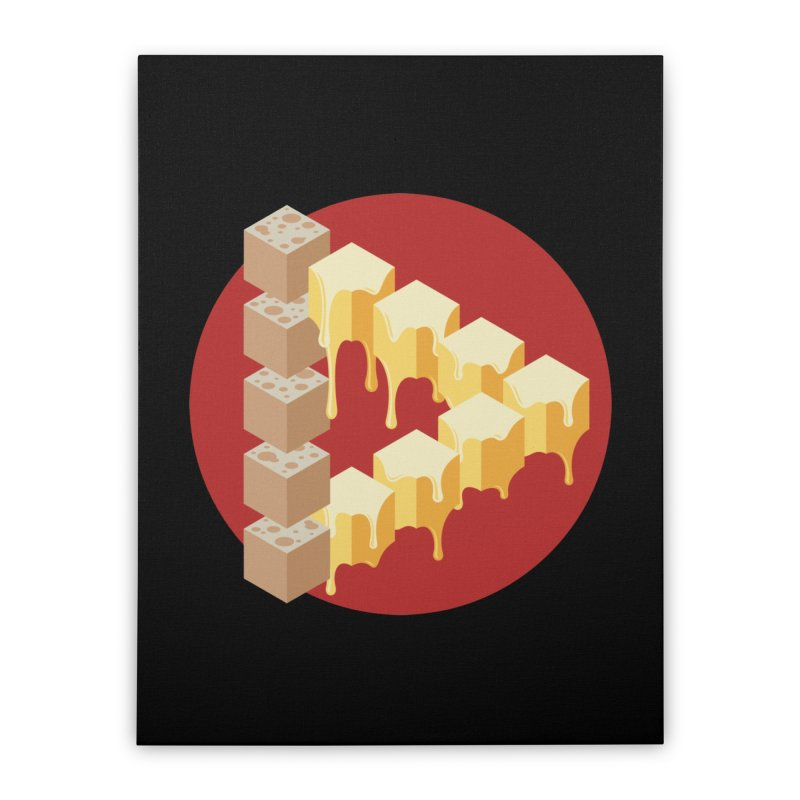 Optical Illusion with Extra Cheese Home Stretched Canvas by Teeframed