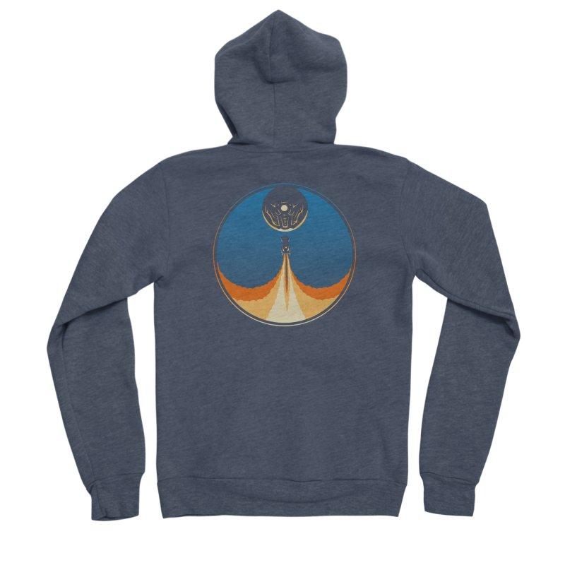 Rocket Launch Men's Sponge Fleece Zip-Up Hoody by Teeframed