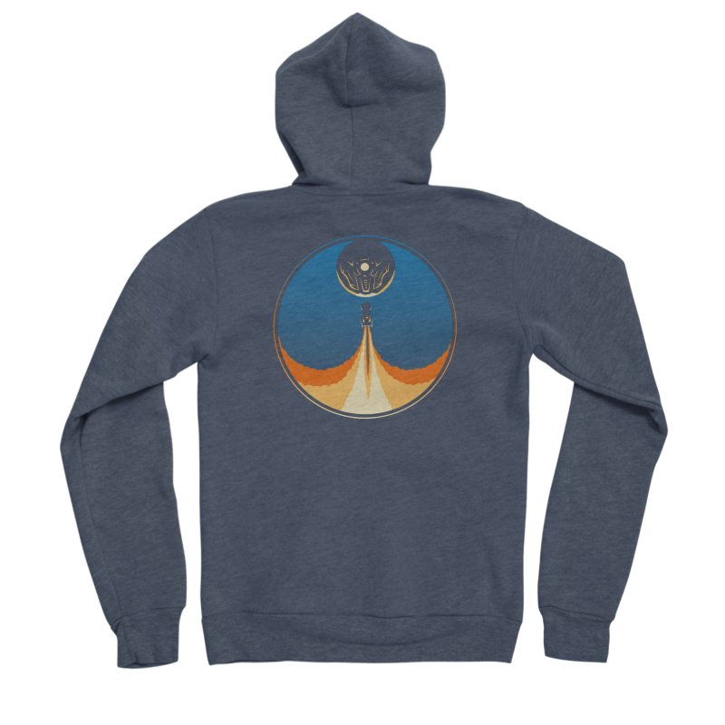 Rocket Launch Women's Sponge Fleece Zip-Up Hoody by Teeframed