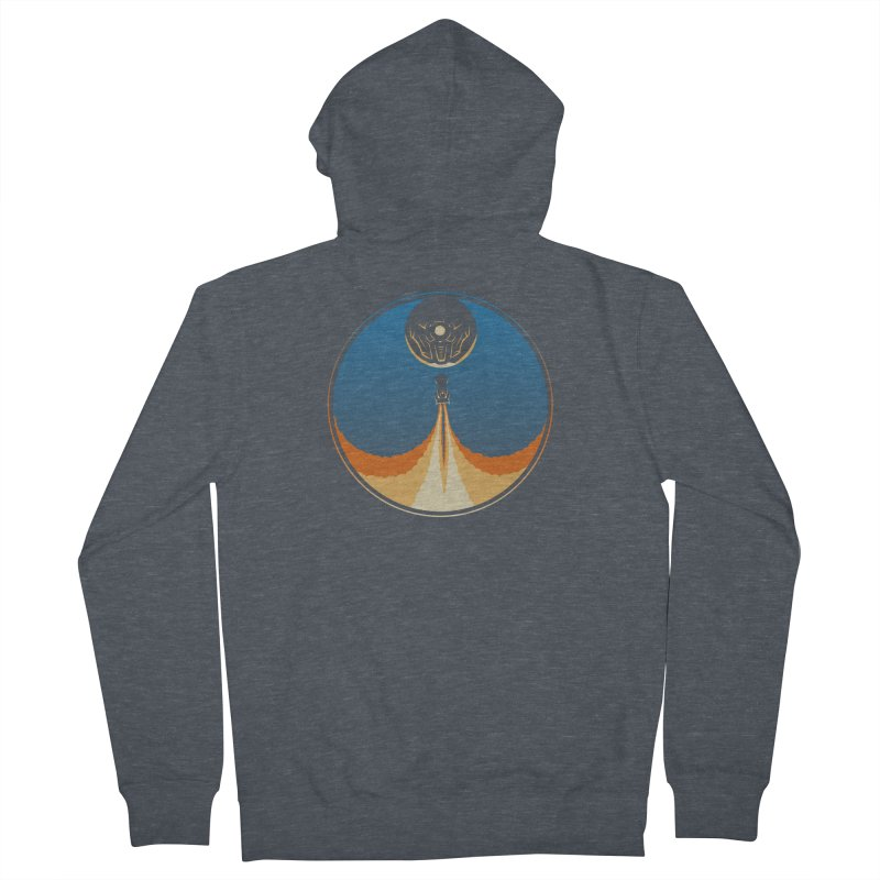 Rocket Launch Men's French Terry Zip-Up Hoody by Teeframed