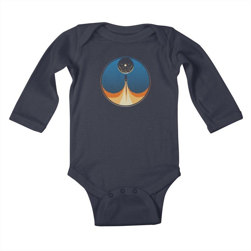 Rocket Launch Kids Baby Longsleeve Bodysuit by Teeframed