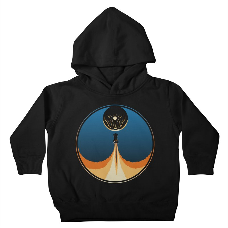 Rocket Launch Kids Toddler Pullover Hoody by Teeframed