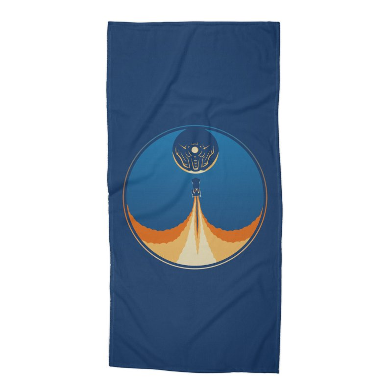 Rocket Launch Accessories Beach Towel by Teeframed