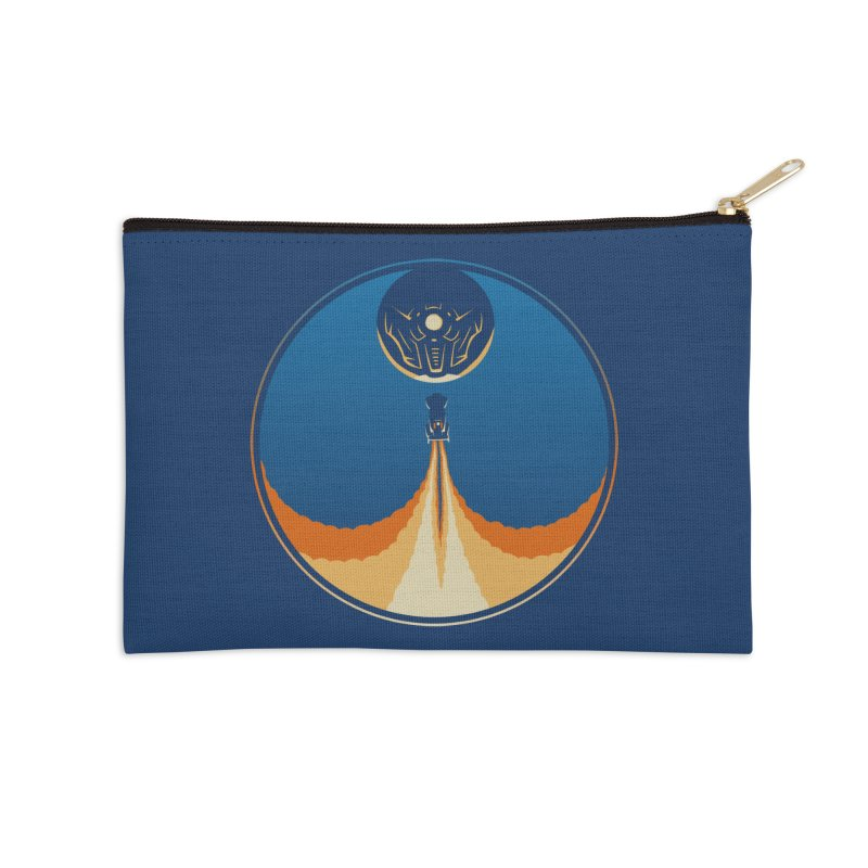 Rocket Launch Accessories Zip Pouch by Teeframed