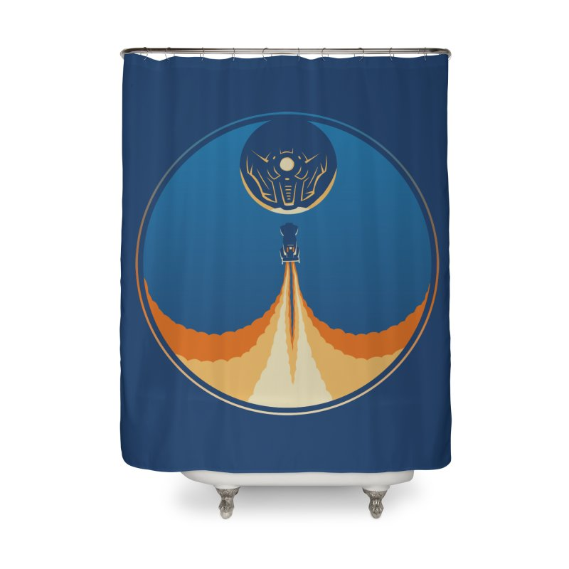 Rocket Launch Home Shower Curtain by Teeframed