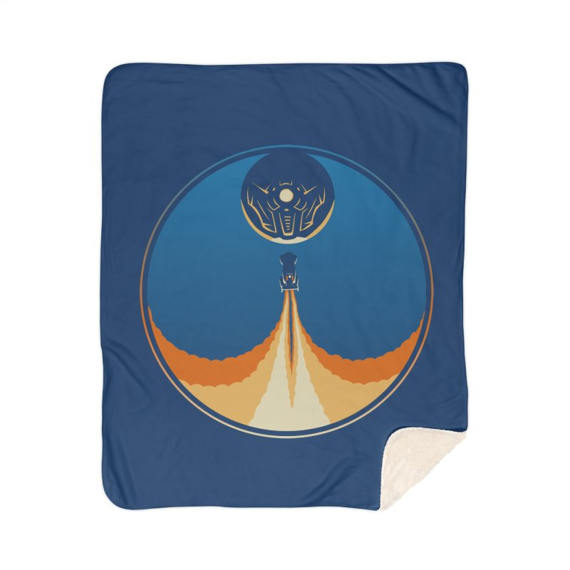 Rocket Launch Home Sherpa Blanket Blanket by Teeframed