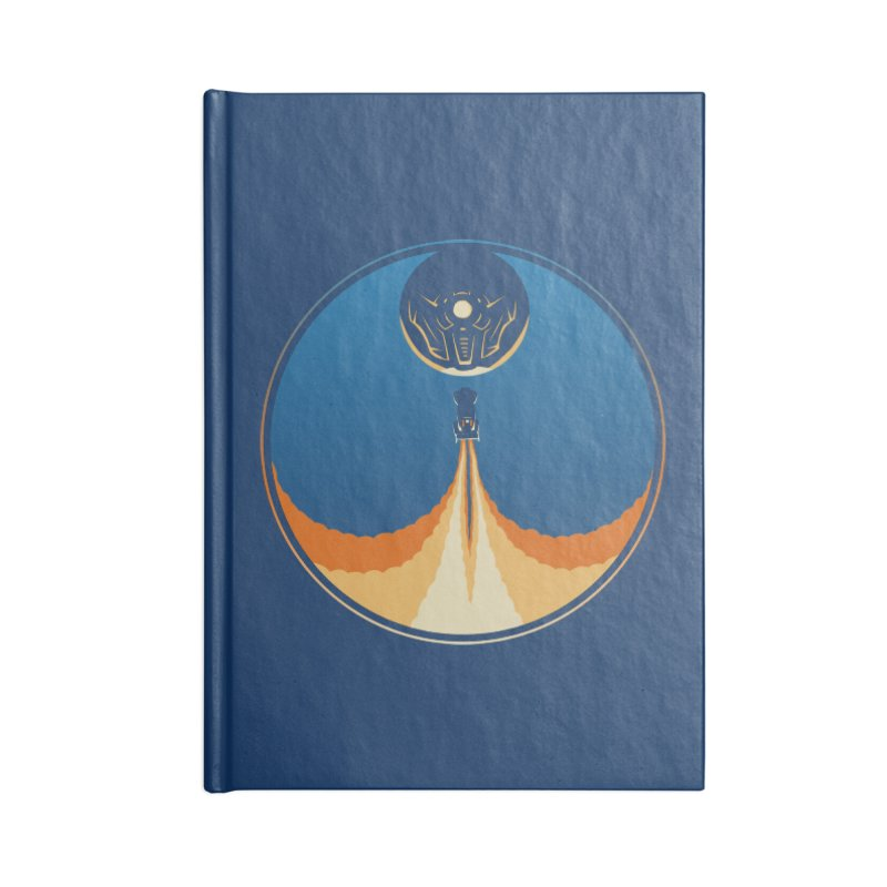 Rocket Launch Accessories Lined Journal Notebook by Teeframed