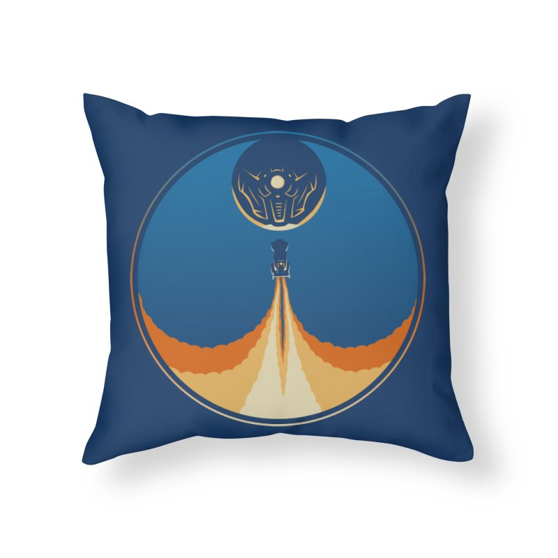 Rocket Launch Home Throw Pillow by Teeframed