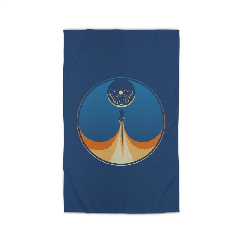 Rocket Launch Home Rug by Teeframed