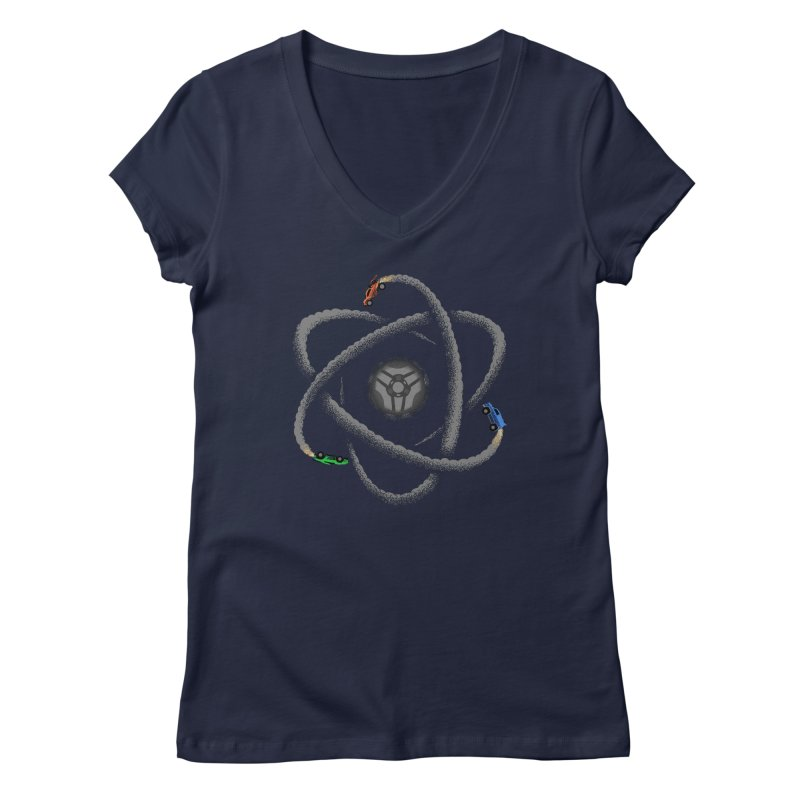 Rocket Science Women's Regular V-Neck by Teeframed
