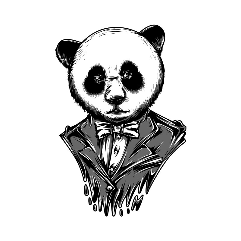 White Panda Black & White Theme by teelity's Shop