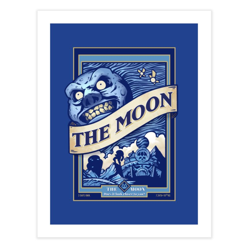 Majora's Blue Moon Home Fine Art Print by TeeMaki