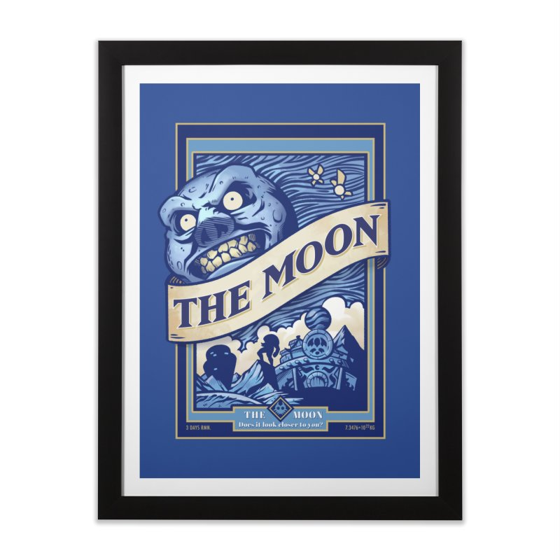 Majora's Blue Moon Home Framed Fine Art Print by TeeMaki