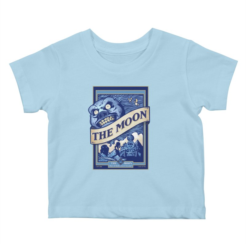 Majora's Blue Moon Kids Baby T-Shirt by TeeMaki