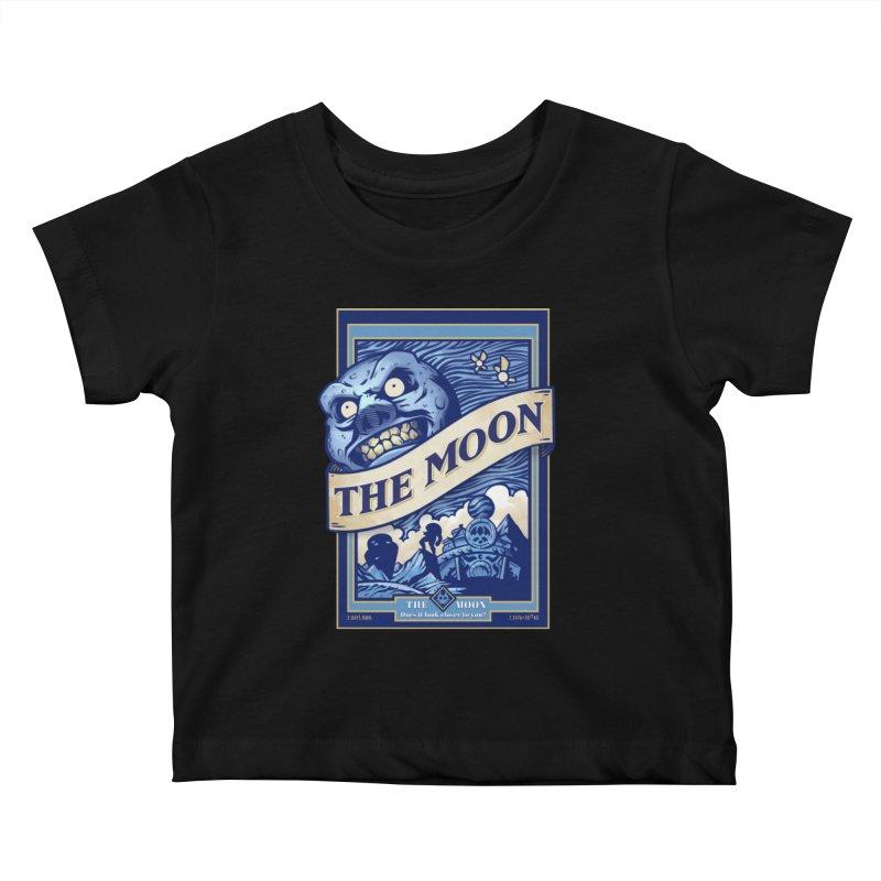 Majora's Blue Moon Kids Baby T-Shirt by TeeMaki