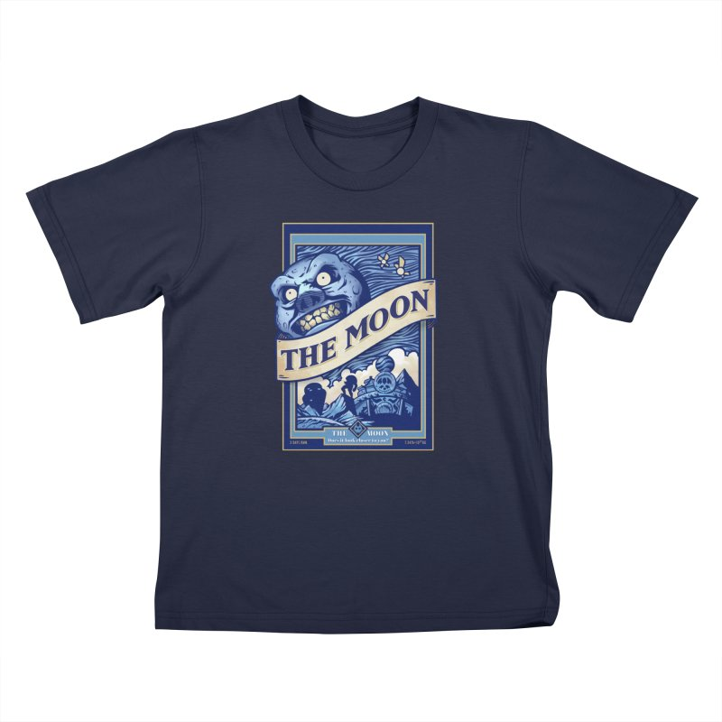 Majora's Blue Moon Kids T-Shirt by TeeMaki