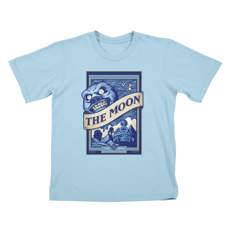 Majora's Blue Moon Kids T-Shirt by TeeMaki