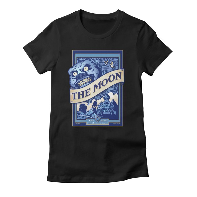Majora's Blue Moon Women's Fitted T-Shirt by TeeMaki