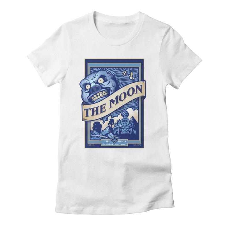 Majora's Blue Moon Women's Fitted T-Shirt by TeeMaki