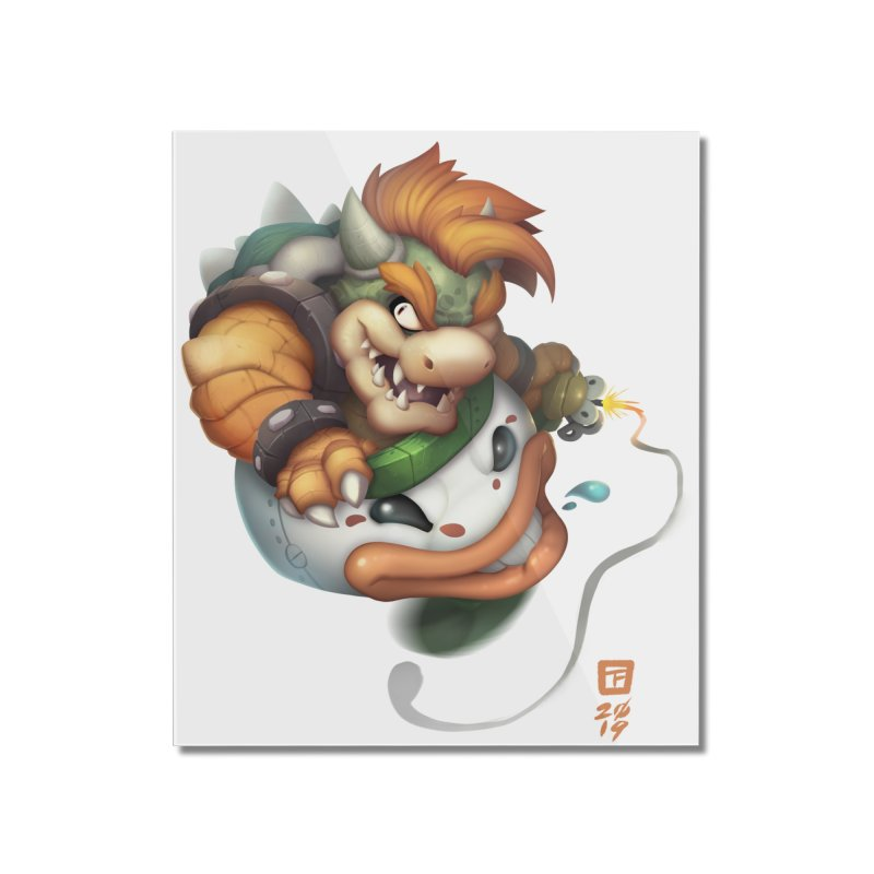 Bowser Clown Car Home Mounted Acrylic Print by TeeMaki
